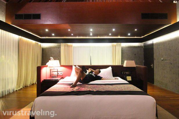 Laying at The Sanctoo Villa Bedroom