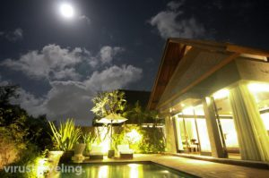 The Sanctoo Villa Ubud at Night