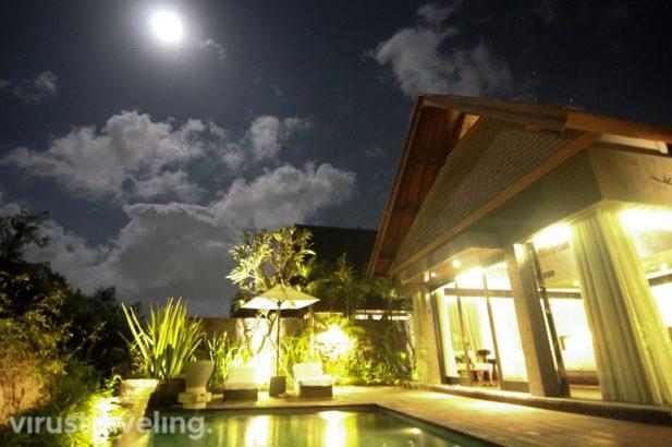 The Sanctoo Villa Ubud at Night